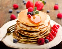 Consider a pancake party as one of your next walkathon fundraiser ideas.